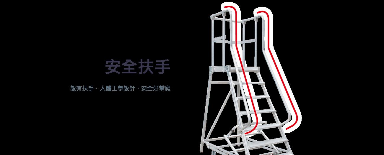 安全扶手 設有扶手,人體工學設計,安全好攀爬